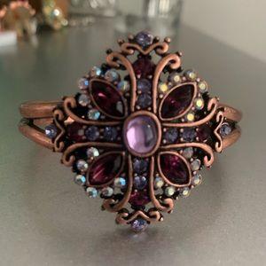 Copper cross bangle